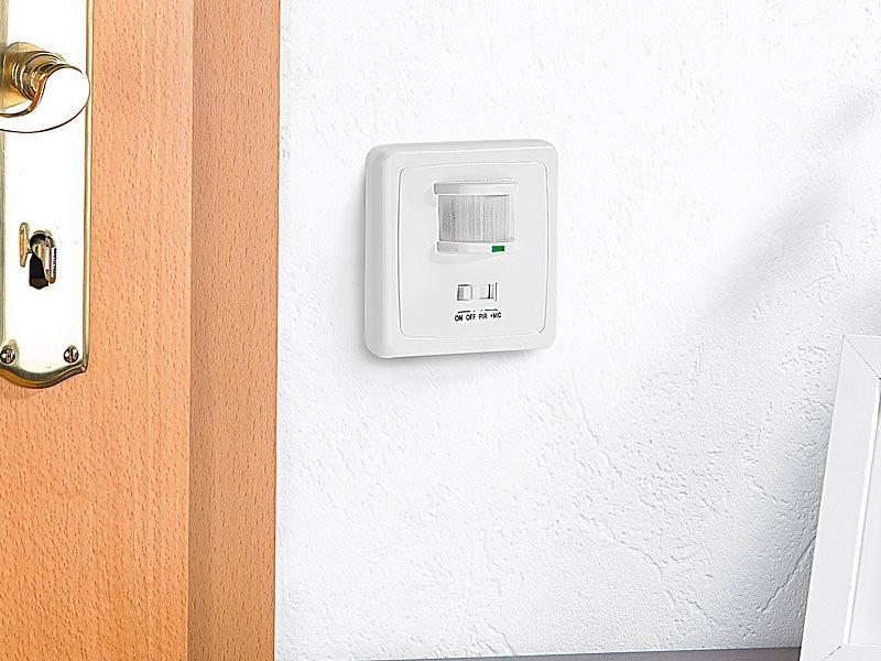 revolt automatischer lichtschalter mit pir und akustik sensor. Black Bedroom Furniture Sets. Home Design Ideas