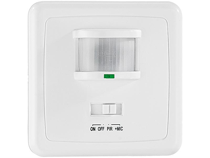 Super revolt 4er-Set Automatische Lichtschalter mit PIR und Akustik-Sensor UL87