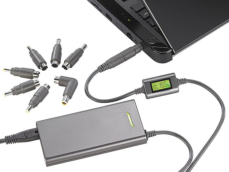 ; Notebook-Ladekabel, Universal Lade-Adapter für NotebooksNotebook-LadegeräteLadegeräte für NotebooksNotebook-NetzgeräteNotebook-Netz-KabelNotebook charger