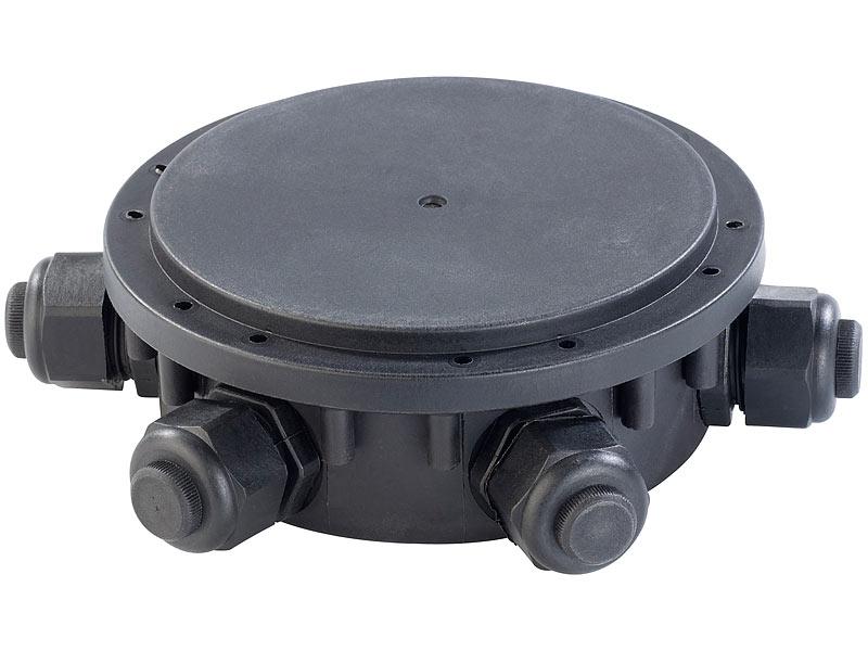 revolt outdoor kabel verbindungsbox 6 fach ip68 f r. Black Bedroom Furniture Sets. Home Design Ideas