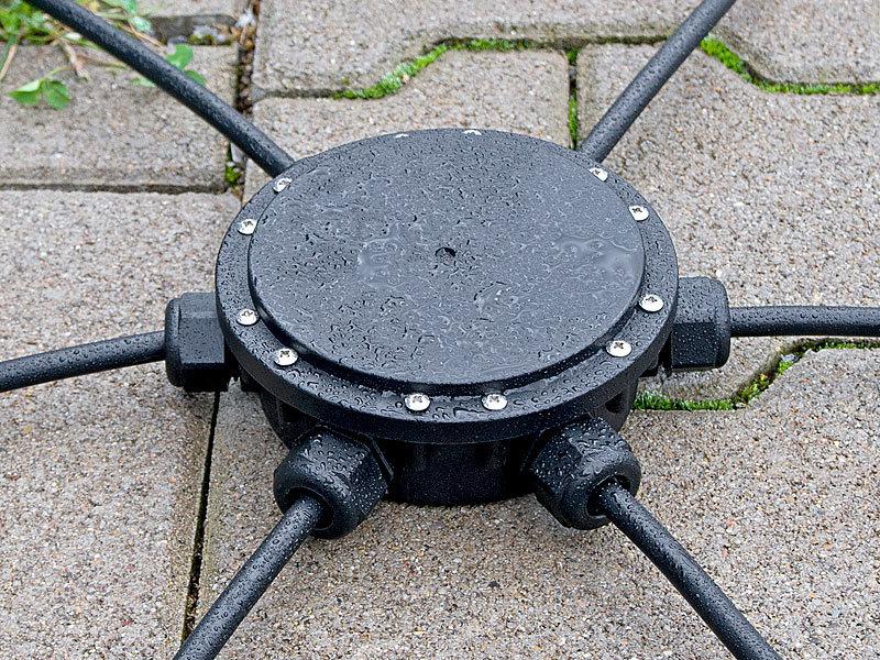 revolt Outdoor-Kabel-Verbindungsbox, 6-fach, IP68, für ...