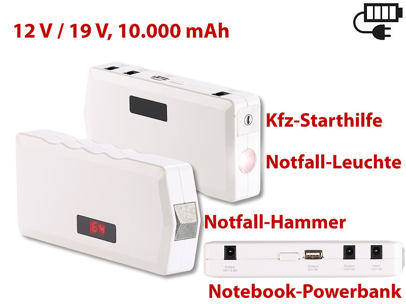 revolt notebook powerbank m kfz starthilfe notfall. Black Bedroom Furniture Sets. Home Design Ideas
