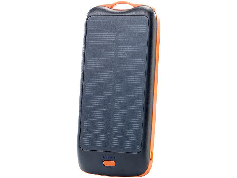 revolt solar powerbank pb 100 s mit mah ladestand anz 2x usb. Black Bedroom Furniture Sets. Home Design Ideas