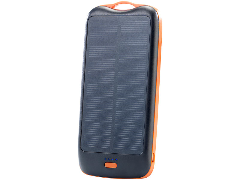 ; 2in1-Solar-Generatoren & Powerbanks, mit externer Solarzelle, USB-Powerbanks kompakt