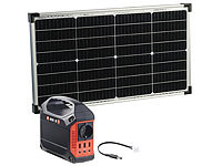 revolt Solar-Generator & Powerbank mit 50-Watt-Solarzelle, 42 Ah, 180 Watt; USB-Solar-Powerbanks USB-Solar-Powerbanks USB-Solar-Powerbanks