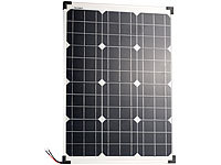 revolt Mobiles Solarpanel mit monokristallinen Solarzellen, 50 Watt; USB-Solar-Powerbanks USB-Solar-Powerbanks USB-Solar-Powerbanks USB-Solar-Powerbanks