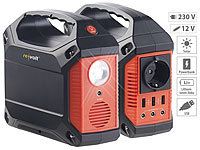 revolt Solar-Konverter & Powerbank, 42 Ah, 1x 230 V, je 3x 12 V & USB, 180 W; USB-Powerbanks USB-Powerbanks USB-Powerbanks USB-Powerbanks