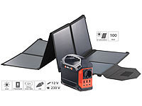 revolt Solar-Generator & Powerbank mit faltbarem 100-Watt-Solarpanel, 42 Ah; USB-Solar-Powerbanks USB-Solar-Powerbanks USB-Solar-Powerbanks USB-Solar-Powerbanks