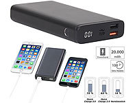 revolt Powerbank mit Quick Charge 3.0 und USB Typ C PD, 20.000 mAh, 3 A, 18 W; USB-Solar-Powerbanks, USB-Powerbanks USB-Solar-Powerbanks, USB-Powerbanks USB-Solar-Powerbanks, USB-Powerbanks USB-Solar-Powerbanks, USB-Powerbanks
