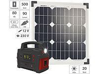 revolt Solar-Generator & Powerbank mit mobilem 20-Watt-Solarpanel, 80 Ah; USB-Solar-Powerbanks USB-Solar-Powerbanks USB-Solar-Powerbanks USB-Solar-Powerbanks