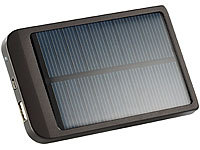 revolt Solar-Powerbank mit 2000 mAh für iPhone, Handy & MP3-Player