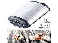 revolt 2in1-Powerbank mit Handwärmer, 5.200 mAh, 2 Temperaturstufen; USB-Solar-Powerbanks, USB-Powerbanks USB-Solar-Powerbanks, USB-Powerbanks USB-Solar-Powerbanks, USB-Powerbanks USB-Solar-Powerbanks, USB-Powerbanks