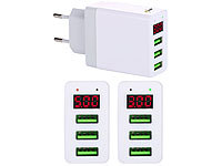 revolt Intelligentes 3-Port-USB-Wandnetzteil mit LED-Display, 3,1 A, 15,5 W