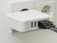 revolt Intelligentes 5-Port-USB-Wandnetzteil Smart Power, 34 Watt