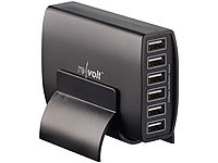 revolt Intelligentes 6-Port-USB-Netzteil Smart Power, 60 Watt, 12 A; USB-Powerbanks