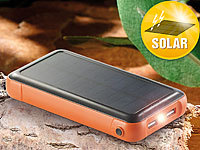 revolt Solar-Powerbank PB-200.s mit 20.000 mAh, Ladestand-Anz., 2x USB; USB-Powerbanks USB-Powerbanks USB-Powerbanks