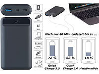 revolt Powerbank, Quick Charge 3.0 & USB Typ C PD, 10.000 mAh, bis 3 A, 18 W